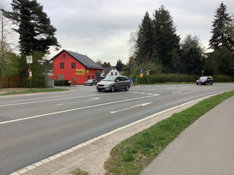 Gefahrenstelle Ostendorferstraße/ Bremer Landstraße, Einmündung Lindnerstraße