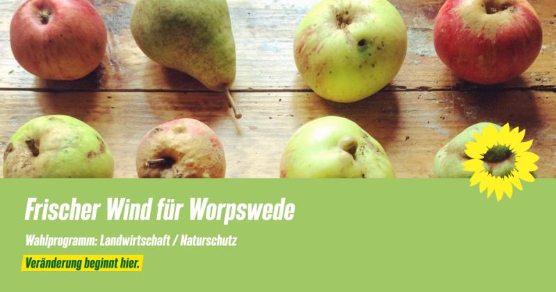 Wahlprogramm Worpswede Landwirtschaft Naturschutz